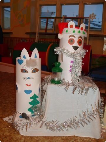 Вот таких замечательных зверят смастерили ребята к новогоднему празднику. фото 4