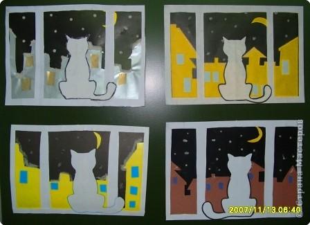 Аппликация: Кошка на окошке фото 2
