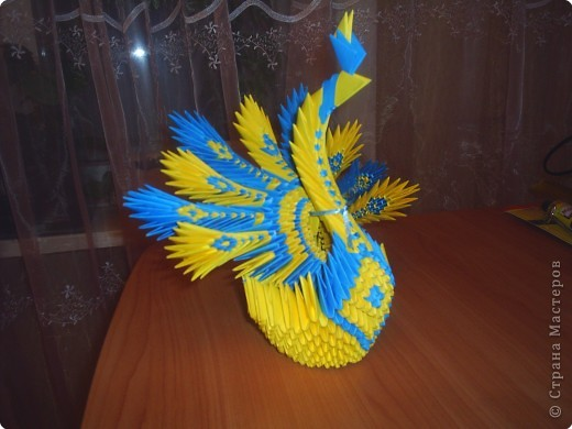 Оригами модульное: Павлин фото 2