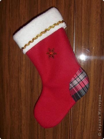 Шитьё: Новогодний носок фото 1