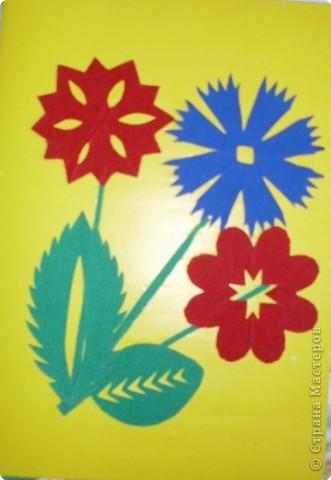 Цветы из бархатной бумаги