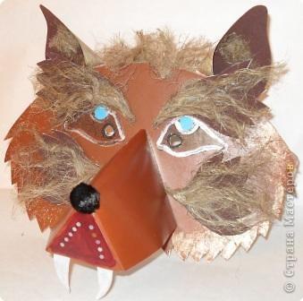 Маска волка из картона своими руками фото