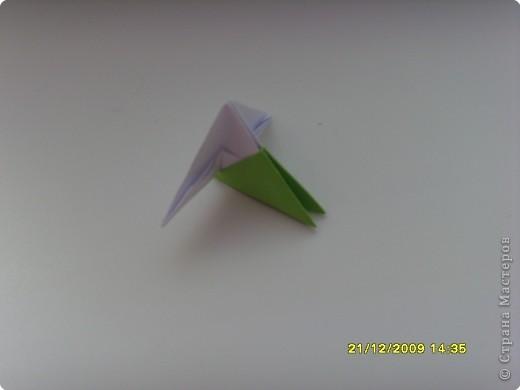 Мастер-класс Оригами китайское модульное Вот и мой цветочек МК Бумага фото 4