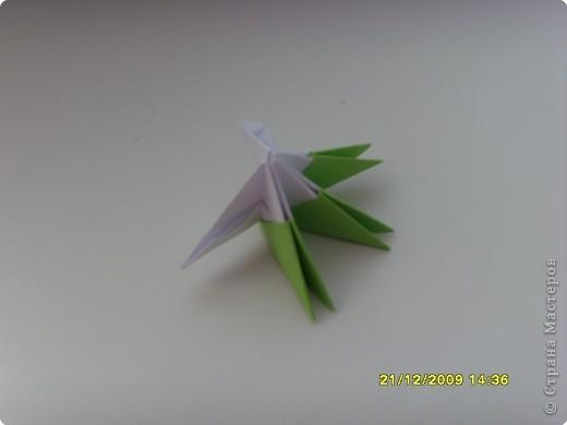 Мастер-класс Оригами китайское модульное Вот и мой цветочек МК Бумага фото 5