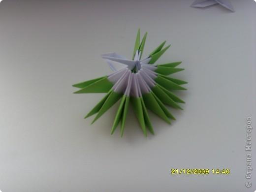 Мастер-класс Оригами китайское модульное Вот и мой цветочек МК Бумага фото 6