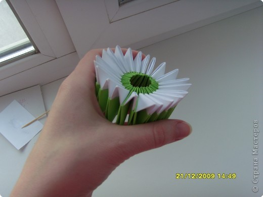 Мастер-класс Оригами китайское модульное Вот и мой цветочек МК Бумага фото 9