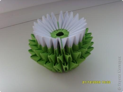 Мастер-класс Оригами китайское модульное Вот и мой цветочек МК Бумага фото 15
