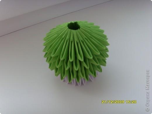 Мастер-класс Оригами китайское модульное Вот и мой цветочек МК Бумага фото 17