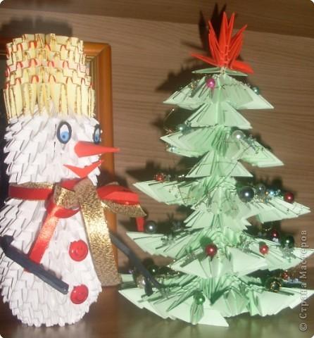 Оригами модульное: Снеговик фото 2