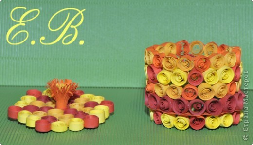 Квиллинг: Шкатулка для мамы фото 2