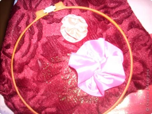 1).Ширина ленты зависит от вашего желания: какой размером желаете сделать цветок (большой, средний...) 2).Длина 25 - 35 см. 3).Подбор ткани для основы по качеству и цвету - это тоже ваше желание. На первом фото показан срезанный край ленты, чтобы удобно было вставлять в иглу. фото 8