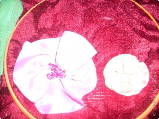 1).Ширина ленты зависит от вашего желания: какой размером желаете сделать цветок (большой, средний...) 2).Длина 25 - 35 см. 3).Подбор ткани для основы по качеству и цвету - это тоже ваше желание. На первом фото показан срезанный край ленты, чтобы удобно было вставлять в иглу. фото 11