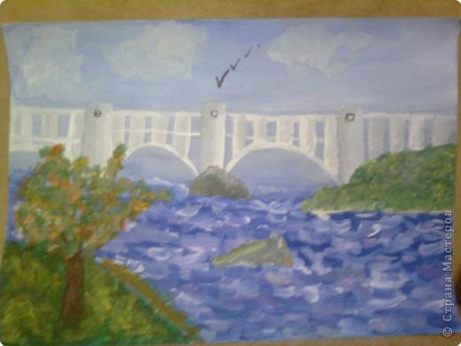 Рисование и живопись: Наш Запорожский мост им. Преображенского