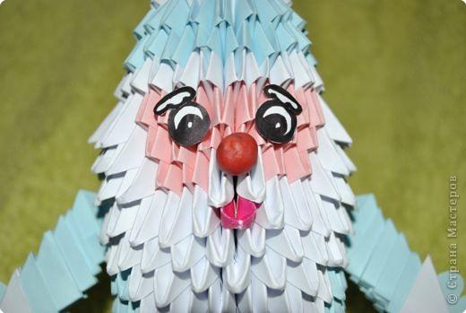 Оригами модульное: ДЕД МОРОЗ фото 2