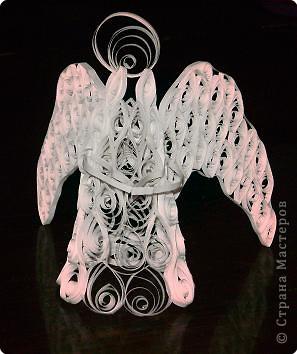 Квиллинг: рождественский ангел фото 1