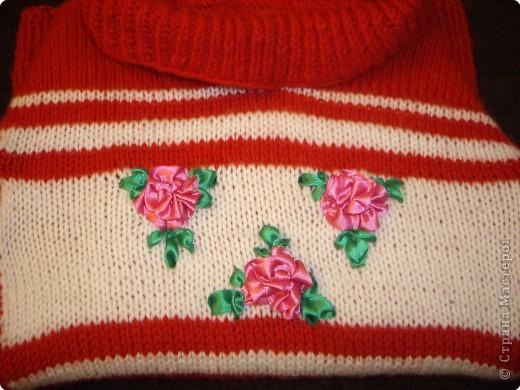 Связала дочурке вот такой свитерок. Это мой первый опыт в вязании. фото 2