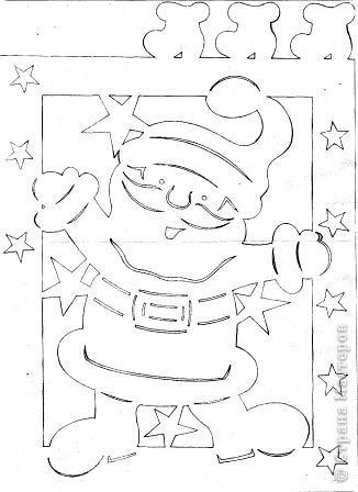 Вот такой Дедушка Мороз или Санта Клаус (кому как хочется) может украсить окошко в детской комнате. фото 2