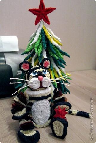 Белый тигр готов к праздникам благодаря МК Татьяны Николаевны Просняковой.