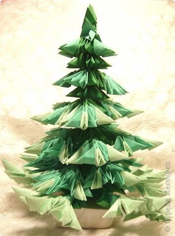 Оригами модульное: Елочка, зеленая иголочка