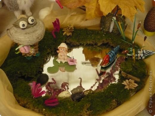 """Поделки были сделаны для конкурса на тему """"Осенняя фантазия"""". Павлины сделаны из гриба, который растет на дереве. фото 3"""