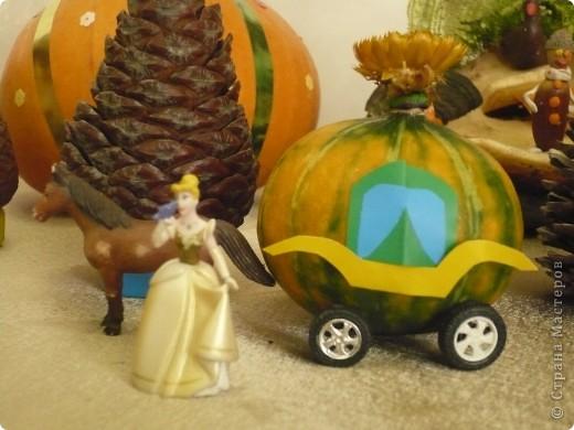 """Поделки были сделаны для конкурса на тему """"Осенняя фантазия"""". Павлины сделаны из гриба, который растет на дереве. фото 7"""