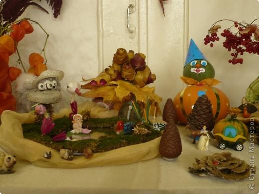 """Поделки были сделаны для конкурса на тему """"Осенняя фантазия"""". Павлины сделаны из гриба, который растет на дереве. фото 5"""