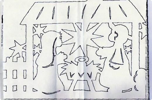 вот такую вытынанку я вырезала для украшения окна в классе младшего сына, длина всей работы около 90 см. Для работы использовала  ксероксную бумагу. фото 5