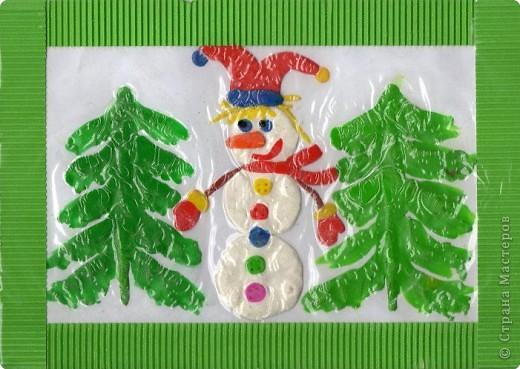 Обрывки новогодней сказки: ... жил-был Снеговик... Жил он в лесу рядом с избушкой лесника. Его сделали дети лесника Аня и Ваня. фото 1