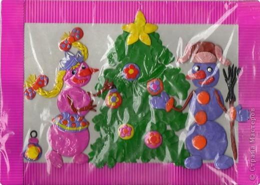 Обрывки новогодней сказки: ... жил-был Снеговик... Жил он в лесу рядом с избушкой лесника. Его сделали дети лесника Аня и Ваня. фото 3