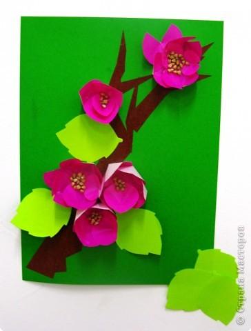 Оригами: Цветы из кругов
