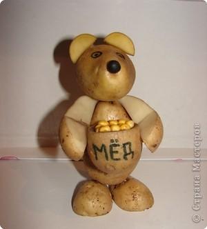 Медведь из картошки. фото 1