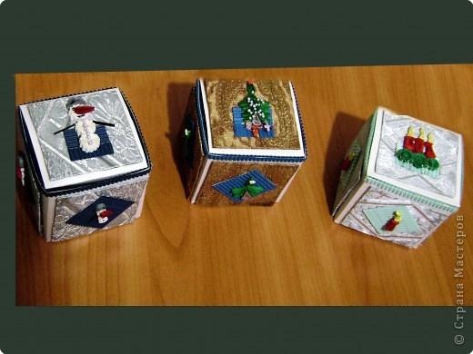 Новогодние коробочки для подарков фото 1