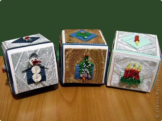 Новогодние коробочки для подарков фото 2