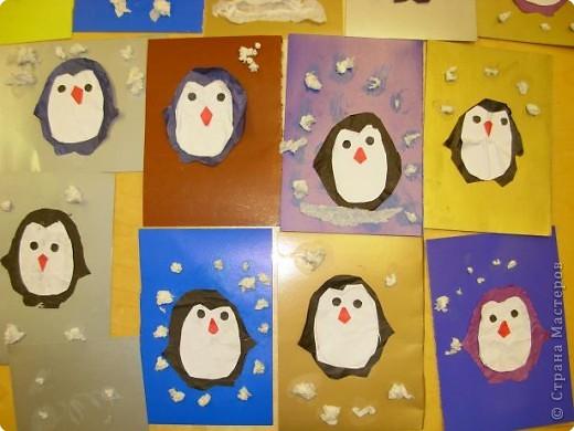 Таких пингвинов сделали сегодня на занятии. Возраст детей 4-4,5 года. фото 2