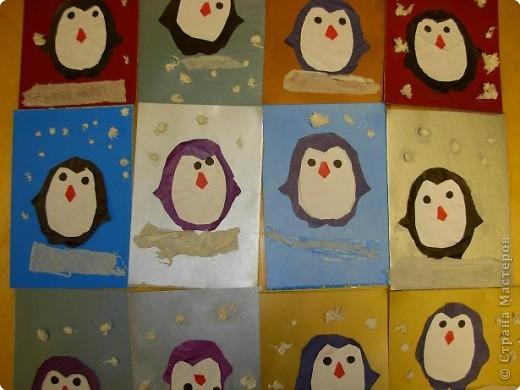 Таких пингвинов сделали сегодня на занятии. Возраст детей 4-4,5 года. фото 1
