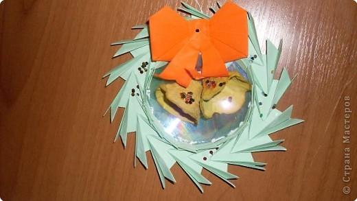 Оригами: Рождественский венок