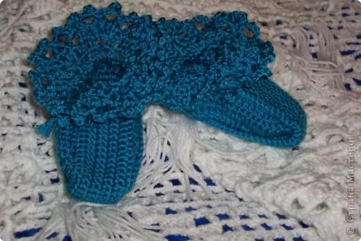 Вязание крючком: пинеточки