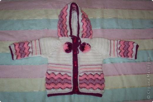 Вязание крючком: кофочка для доченьки