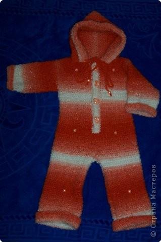 Вязание крючком: комбенизончик