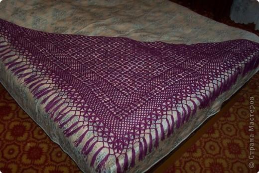 Вязание крючком: шаль для мамы