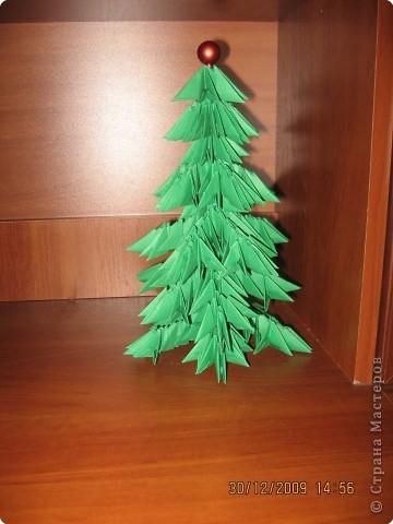 Оригами модульное: Вот такая елочка у меня фото 1