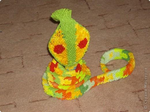 Оригами модульное: Авторская работа- Змея фото 2