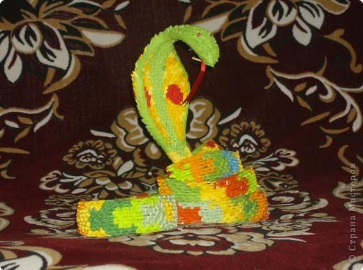 Оригами модульное: Авторская работа- Змея фото 3