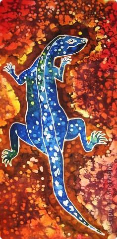 Батик: Ящерица