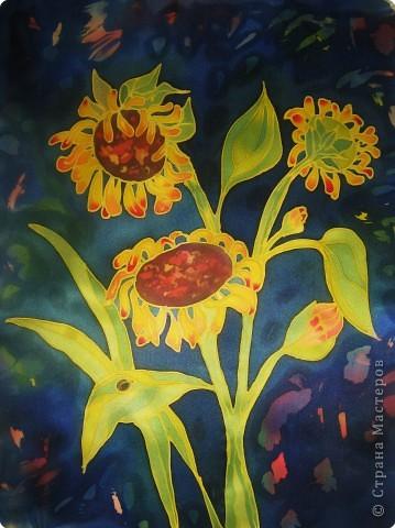Батик: Ночные цветы