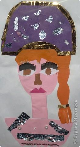 С ребятами вторых классов сделали характерный портрет королевишны фото 9
