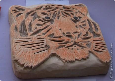 """Приглашаю вас  полюбоваться тиграми, сделанными учащимися нашей школы Это """"солнышко"""" связала Сысоева Яна фото 2"""