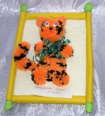 """Приглашаю вас  полюбоваться тиграми, сделанными учащимися нашей школы Это """"солнышко"""" связала Сысоева Яна фото 4"""