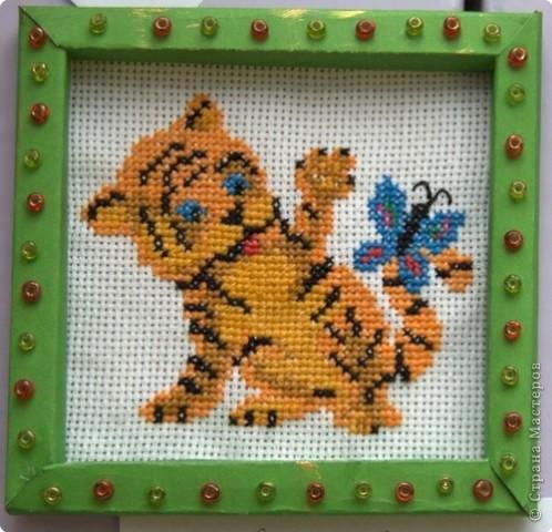 """Приглашаю вас  полюбоваться тиграми, сделанными учащимися нашей школы Это """"солнышко"""" связала Сысоева Яна фото 10"""