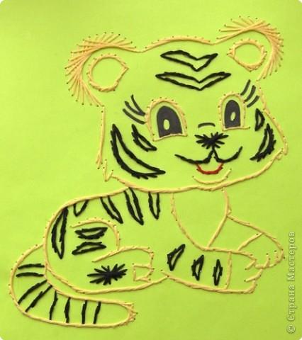 """Приглашаю вас  полюбоваться тиграми, сделанными учащимися нашей школы Это """"солнышко"""" связала Сысоева Яна фото 7"""